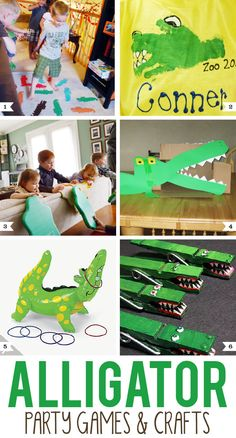 Alligator party games and crafts for kids
