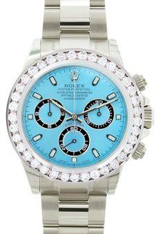 Rolex Daytona Steel Ice Blue Face / 5.00ct Diamond Bezel