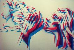 #art #arte #kunst #illustratie #illustration #graff #graffiti #graffitiart #sprayart #streetart #rook #smoke #fumo #sigarette #psychedelic #acid #abstract #woman #3d #acid
