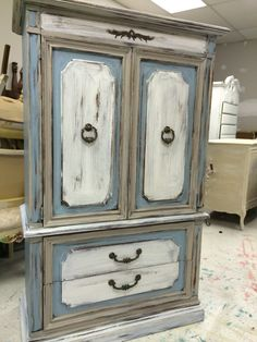 Charmant Here Is One More Piece Before The Long Weekend! This Is A Wardrobe Armoire  Painted. Hanging ClothesLong ...