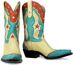 Stars (Bone) - Handmade Cowboy Boots from Liberty Boot Co Funky Shoes, Crazy Shoes, Western Wear, Western Boots, Liberty Boots, Vintage Cowgirl, Vintage Boots, Boot Scootin Boogie, Star Boots