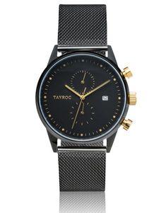 Tayroc The Boundless TXM087 bei tiqtoq online bestellen ✓ Farbe: Schwarz ✓ Armband: Edelstahl, Milanaise ✓ Schnelle & kostenlose Lieferung!