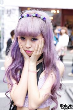 Juria's Lavender Hair & Eye Makeup I love her hair and make up!