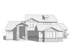 Eagle Island -2 Story Craftsman style house plan - Walker Home Design