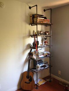 // Industrial book Shelf. $1,000.00, via Etsy.