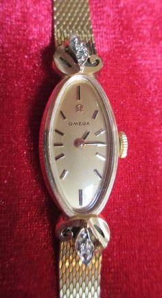 Vintage 14K Gold Omega Ladies Watch Diamonds Yellow Gold on Etsy, $999.00