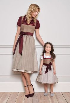 Kinga Mathe Dirndl Herbst 2018 Winter 2019 Drindl Dress, Swing Dress, Dirndl Skirt, Oktoberfest Outfit, Casual T Shirt Dress, Birthday Fashion, Mode Boho, Folk Fashion, Dresses Kids Girl