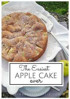 The easiest apple cake recipe ever! This is so fast to make. Add cinnamon and ca… The easiest apple cake recipe ever! This is so fast to make. Add cinnamon and cardamon to give extra spice! Easy Apple Cake, Apple Cake Recipes, Easy Cake Recipes, Pumpkin Recipes, Easy Desserts, Baking Recipes, Dessert Recipes, Apple Cakes, Apple Desserts