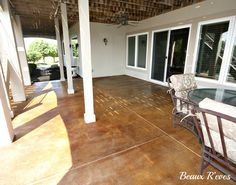 Beaux R'eves: Staining Concrete