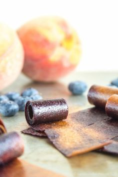 Blueberry Peach Fruit Roll-Ups swirl together two favorite summer fruits into one sweet and healthy snack perfect to pack in a lunchbox. Healthy Summer Snacks, Fruit Roll Ups, Peach Fruit, On The Go Snacks, Summer Fruit, Finger Food, Summer Recipes, Food Processor Recipes, Sweet Treats
