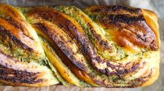 Replace with vegan parmesan and pesto - yum! Norwegian Food, Vegan Parmesan, Our Daily Bread, Bread And Pastries, Sweet Bread, Pesto, Baked Goods, Food And Drink, Cooking Recipes