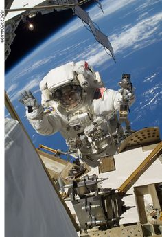 NASA astronaut Steve Bowen, STS-132 mission specialist, participates in the mission's first session of extravehicular activity (EVA) as construction and maintenance continue on the International Space Station.