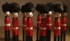 Traditional Soldier Peg Doll  £3.50
