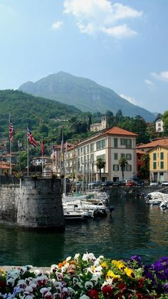 Docks and Boats.. Menaggio, Lake Como, Italy - http://www.aiowedding.com/destination-weddings/top-10-romantic-wedding-destinations