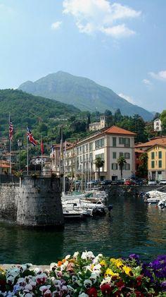 Docks and Boats.. Menaggio, Lake Como, Italy - http://www.aiowedding.com/destination-weddings/top-10-romantic-wedding-destinations