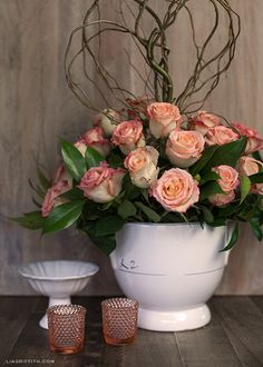 Make a Gorgeous Rose Arrangement from Grocery Store Flowers