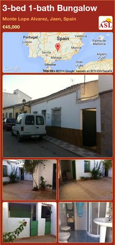 Bungalow for Sale in Monte Lope Alvarez, Jaen, Spain with 3 bedrooms, 1 bathroom - A Spanish Life Murcia, Valencia, Portugal, Bungalows For Sale, Plunge Pool, Personal Taste, Really Cool Stuff, Old Things, Patio