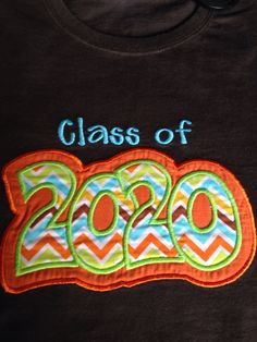 "Graduation Year, ""Class of --"" Shirt by Threadsof2Sisters on Etsy"