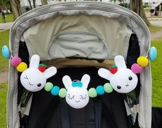 Bunny Stroller Mobile crochet pattern by Super Cute Design