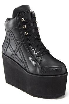 Killstar - Malice Platform Trainer Plateauschuhe Schmuck, Gothic Schuhe,  Verrückte Schuhe, Flippige Schuhe ae40631d0e