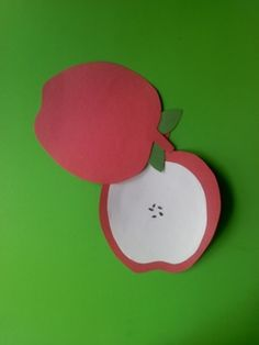 Lots of apple crafts ~ for this one, maybe we could write the memory verse on the inside