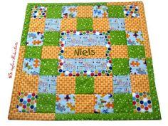 Baby Patchwork-Decke / kuschelige Krabbeldecke von Die tapfere Schneiderin, handmade with love ... by Viola auf DaWanda.com