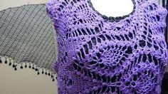 MilArt Marroquin - YouTube Beautiful circular crochet pineapple shirt! Blusa Tejida en Circulo Piñas parte 1 de 10