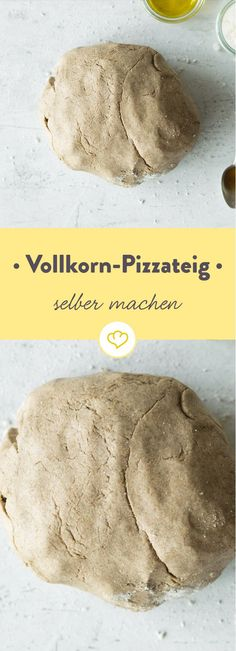 Wer behauptet, dass Pizza nur ungesundes Fast Food sei, hat diesen Vollkorn-Pizz… Anyone who claims that pizza is just unhealthy fast food has not yet discovered this whole-grain pizza dough. Pizza Dough, Pizza Hut, Pizza Yeast, Nutella, Pizza Recipes, Snack Recipes, Best Mexican Recipes, Fast Food, Dry Yeast