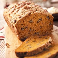 Rustic pumpkin loaf from Taste of Home. I make this at least once a month - it's delicious...