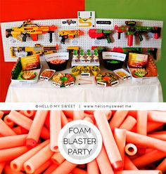 Nerf party table birthday-ideas