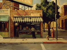 """A Bird in Hand (Jack's Market)"" - Limited Editions - All Artwork - Sally Storch - Tara Drew Gallery | Fine Art World"