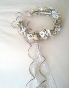 Bridal Floral Crown Wedding Accessories dried flower by AmoreBride, $86.00