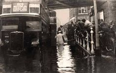 Flood at Silver Street station c.1920. This was a regular occurrence well into the 1960's.