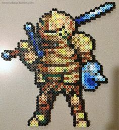 Dark Souls: Siegmeyer  Dark Souls is owned by FromSoftware Inc.  Buy the games here.  More perler bead designs here.  Sprite design based on from Cyangmous GBA SOULS SQUAD.  Follow him for more pixel art on DeviantArt or Twitter!