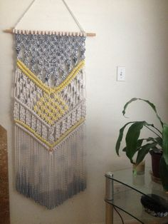 Modern Macrame Wall Hanging Macrame Home Decor от BiziKnitting4You, $220.00
