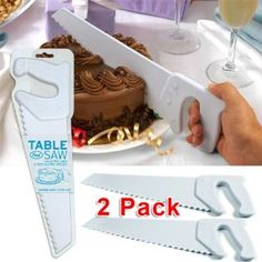 perfect for kids to cut their own cake! My twin boys love them!