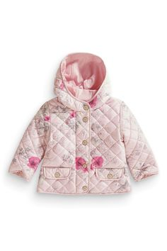Buy Pink Printed Quilted Jacket (3mths-6yrs) from the Next UK online shop