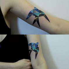 http://www.noregretsstudios.co.uk/watercolour-like-tattoos-by-sasha-unisex/ Swallow By Sasha Unisex