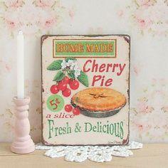 Dollhouse Miniature Cherry Pie Sign Food by sarahslilessentials