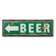 distressed metal beer sign from MUSEUM OUTLETS  #beersign