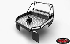 Rear Tube Bed for Trail Finder 2 w/Mud Flaps & Lights (Black)