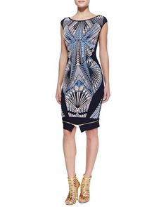 Tabae Jacquard-Print Formfitting Dress by Herve Leger at Neiman Marcus.