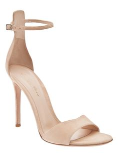 Gianvito Rossi Suede Ankle Strap Sandal