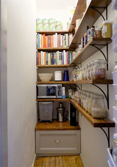 17 Incredible Small Pantry Storage Ideas and Makeovers to Try 17 Incredible Small Pantry Storage Ideas and Makeovers to Try,Wishlist for my future house Need more space in your kitchen? These kitchen corner pantry. Pantry Room, Pantry Cupboard, Corner Pantry, Pantry Shelving, Kitchen Corner, Pantry Storage, New Kitchen, Room Kitchen, Wall Shelving