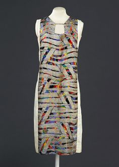 Sonia Delaunay dress, 1925–28, via Musée de la Mode