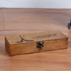 It does not get any sweeter than this. Natural Vintage W... :-) http://www.sustainthefuture.us/products/natural-vintage-wood-jewelry-box-sundries-storage-boxes-creative-paris-tower-print-students-pen-case-wooden-organizador-sn006?utm_campaign=social_autopilot&utm_source=pin&utm_medium=pin