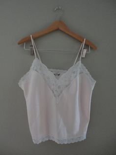 Pale Shell Pink White Lace Christian Dior Camisole Tank