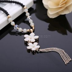 Korean Accessory Gemstone Beads Pendant Sweater Necklace 114 #madeinchina #necklace >http://dxurl.com/Ryr4