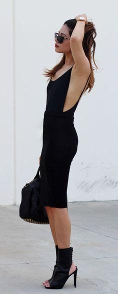 #summer #fashion / black