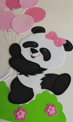 Discover recipes, home ideas, style inspiration and other ideas to try. Foam Crafts, Preschool Crafts, Diy And Crafts, Crafts For Kids, Paper Crafts, Kids Diy, Panda Birthday Party, Panda Party, Panda Decorations